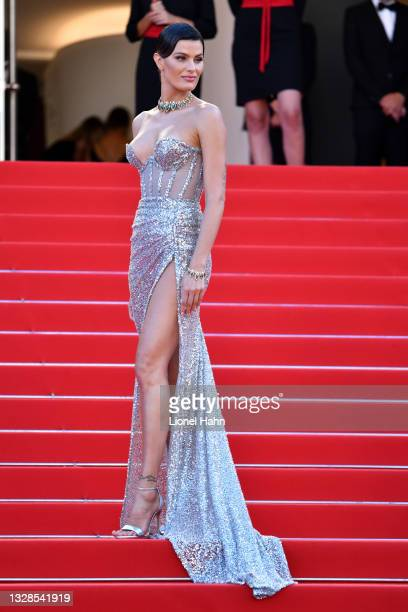 """Isabeli Fontana attends the """"Aline, The Voice Of Love"""" screening during the 74th annual Cannes Film Festival on July 13, 2021 in Cannes, France."""