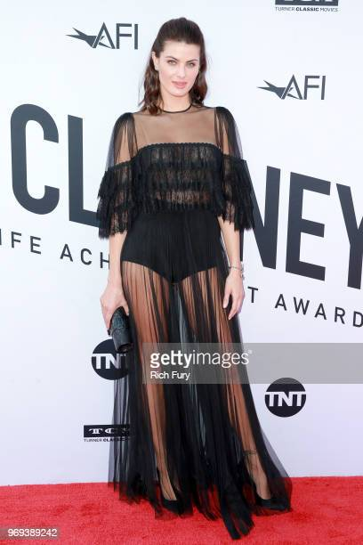 Isabeli Fontana attends the American Film Institute's 46th Life Achievement Award Gala Tribute to George Clooney at Dolby Theatre on June 7, 2018 in...