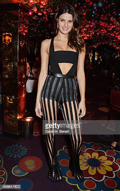 Isabeli Fontana attends the Chopard Christmas Party at Annabel's on December 2 2014 in London England