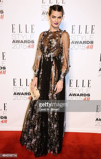 Isabeli Fontana attends the Elle Style Awards 2015 at Sky Garden @ The Walkie Talkie Tower on February 24 2015 in London England