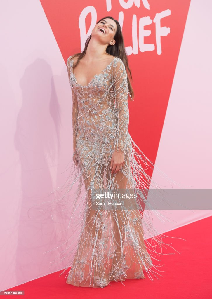 Isabeli Fontana attends the Fashion for Relief event during the 70th annual Cannes Film Festival at Aeroport Cannes Mandelieu on May 21, 2017 in Cannes, France.
