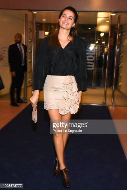 Isabeli Fontana attends the Harper's Bazaar Exhibition as part of the Paris Fashion Week Womenswear Fall/Winter 2020/2021 At Musee Des Arts...