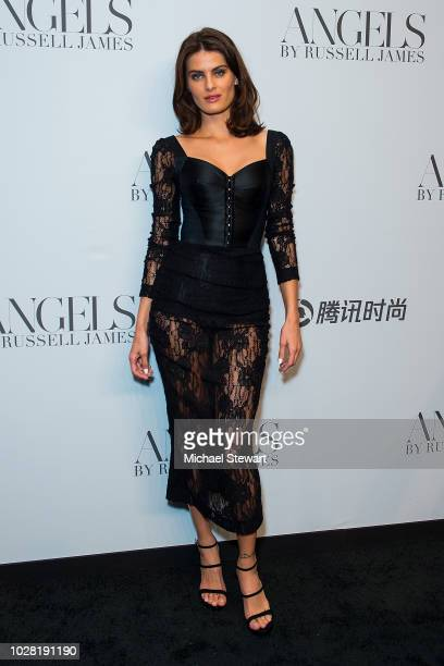 Isabeli Fontana attends the Russell James 'Angels' book launch & exhibit at Stephan Weiss Studio on September 6, 2018 in New York City.