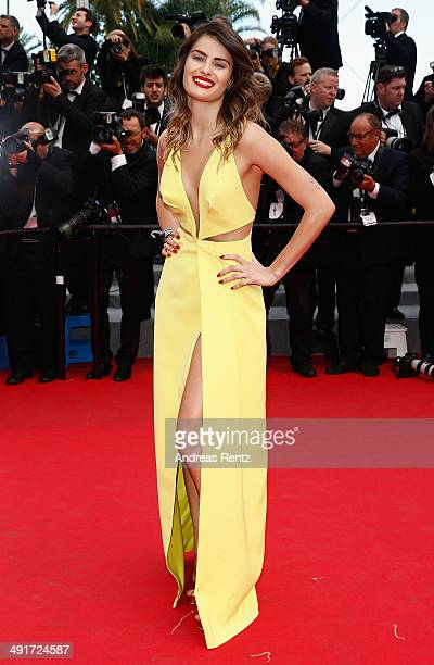Isabeli Fontana attends the Saint Laurent premiere during the 67th Annual Cannes Film Festival on May 17 2014 in Cannes France