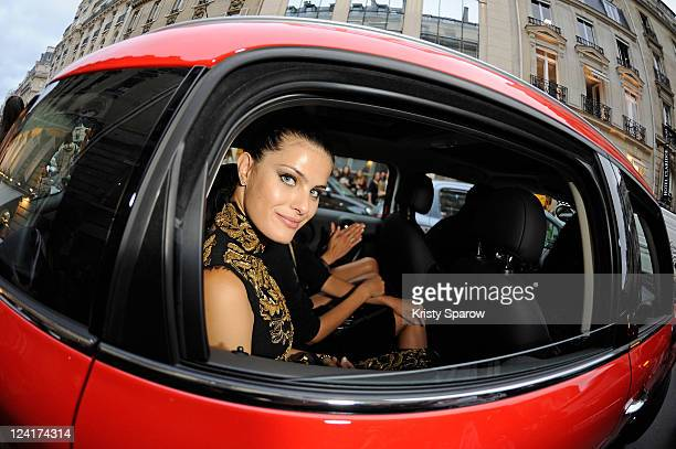 Isabeli Fontana attends the Vogue Fashion Celebration 2011 on Avenue Francois on September 8 2011 in Paris France
