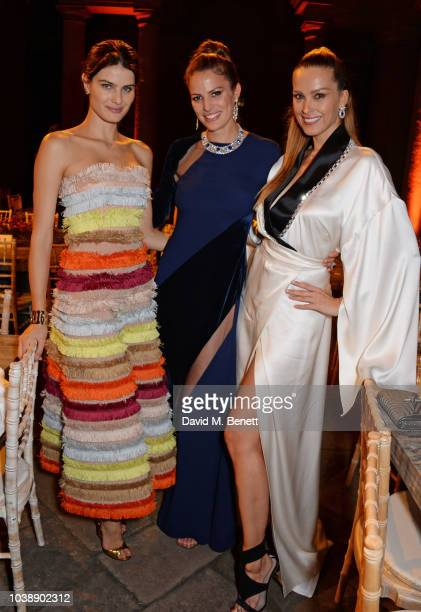 Isabeli Fontana Cameron Russell and Petra Nemcova attend The Green Carpet Fashion Awards Italia 2018 after party at Gallerie d'Italia on September 23...