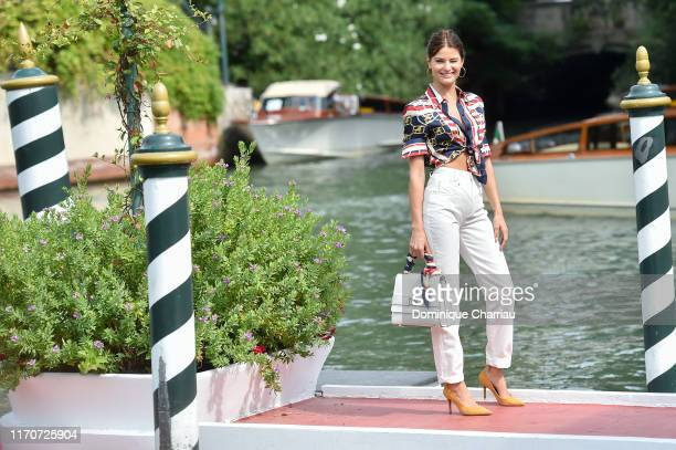 Isabeli Fontana is seen arriving at the 76th Venice Film Festival on August 28 2019 in Venice Italy