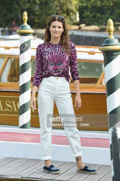 Isabeli Fontana is seen arriving at the 76th Venice Film Festival on August 29 2019 in Venice Italy