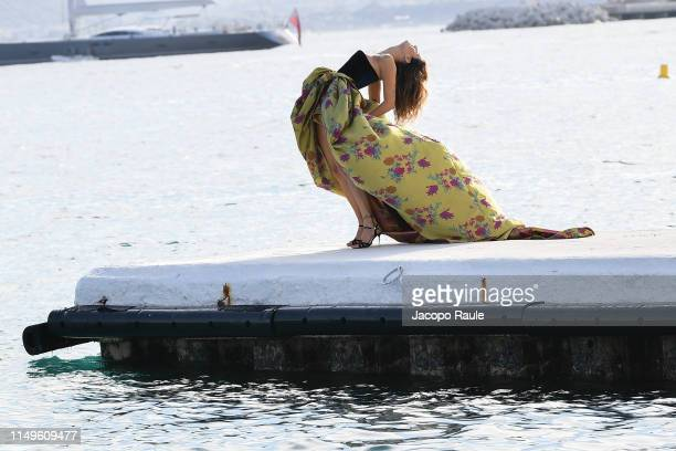 Isabeli Fontana is seen during the 72nd annual Cannes Film Festival at on May 16 2019 in Cannes France