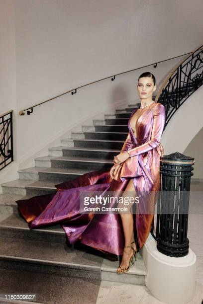 Isabeli Fontana leaves the Martinez Hotel during the 72nd annual Cannes Film Festival on May 18 2019 in Cannes France