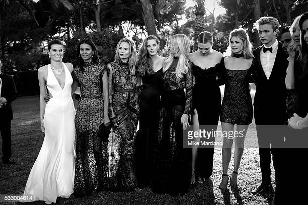 Isabeli Fontana Liya Kebede Natasha Poly Alexina Graham Lara Stone Karlie Kloss Cyril Chapuy Doutzen Kroes and Lucky Blue Smith attends the amfAR's...