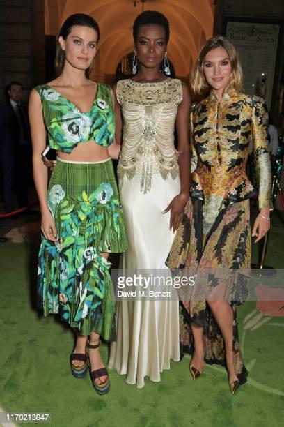 Isabeli Fontana, Maria Borges and Arizona Muse attend The Green Carpet Fashion Awards, Italia 2019, hosted by CNMI & Eco-Age, at Teatro Alla Scala on...