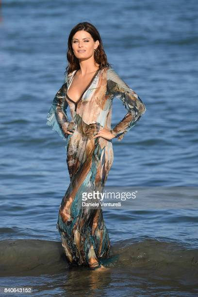 Isabeli Fontana poses for photographers ahead of the 74 Venice Film Festival on August 29 2017 in Venice Italy
