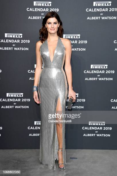 Isabeli Fontana walks the red carpet ahead of the 2019 Pirelli Calendar launch gala at HangarBicocca on December 5, 2018 in Milan, Italy.