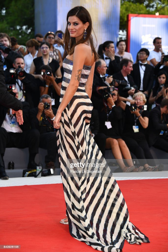 Isabeli Fontana walks the red carpet ahead of the 'Downsizing' screening and Opening Ceremony during the 74th Venice Film Festival at Sala Grande on August 30, 2017 in Venice, Italy.
