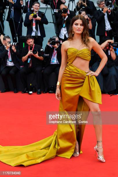 Isabeli Fontana walks the red carpet ahead of the opening ceremony during the 76th Venice Film Festival at Sala Casino on August 28 2019 in Venice...