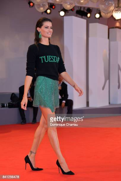 Isabeli Fontana walks the red carpet ahead of the 'The Shape Of Water' screening during the 74th Venice Film Festival at Sala Grande on August 31...