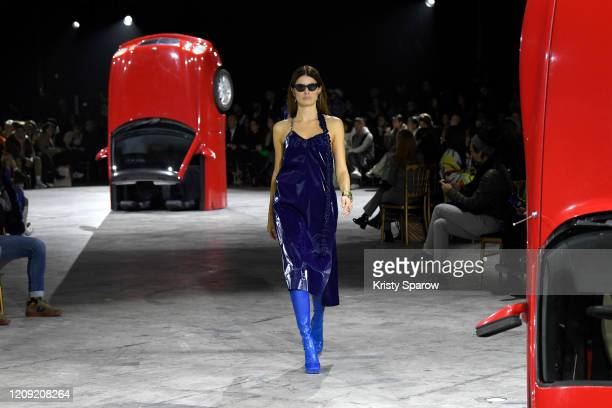Isabeli Fontana walks the runway during the OffWhite show as part of Paris Fashion Week Womenswear Fall/Winter 2020/2021 on February 27 2020 in Paris...