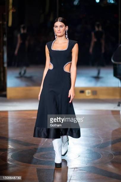 Isabeli Fontana walks the runway during the Prabal Gurung fashion show during New York Fashion Week The Shows at the Rainbow Room on February 11 2020...