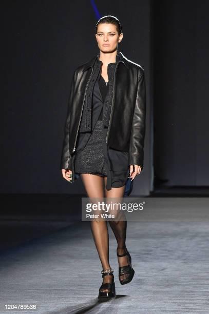 Isabeli Fontana walks the runway for the Rag Bone fashion show during February 2020 New York Fashion Week The Shows on February 07 2020 in New York...