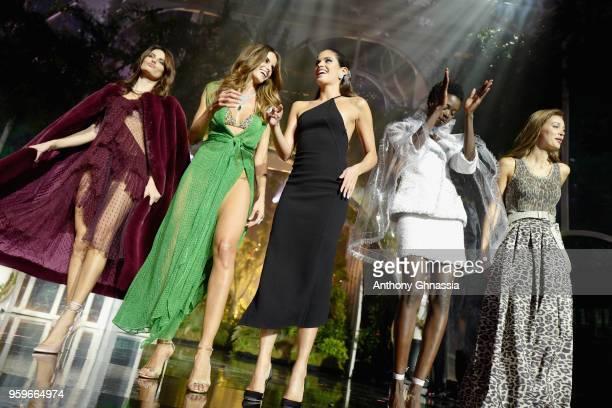 Isabeli Fontana wearing Givenchy Izabel Goulart wearing Missoni Sara Sampaio wearing Oscar De la Renta Maria Borges wearing Tom Ford Lara Leito...