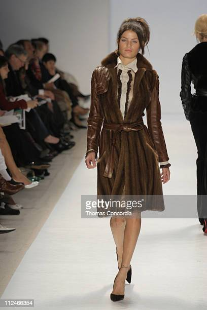 Isabeli Fontana wearing J Mendel Fall 2005 during Olympus Fashion Week Fall 2005 J Mendel Runway at Plaza in New York City New York United States