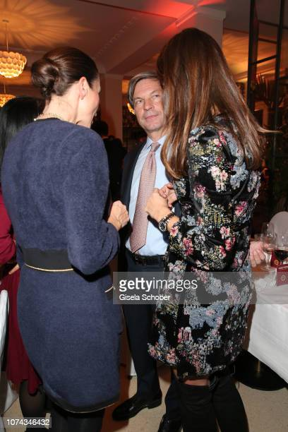Isabell Brauer Managing Director Chanel Boutique Munich Christian Auer and Susanne Susi Seehofer daughter of Horst Seehofer during the annual...