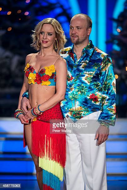 Isabell Edvardsson and Moritz Sachs during the Final of 'Let's Dance Let's Christmas' TV Show on December 21 2013 in Cologne Germany