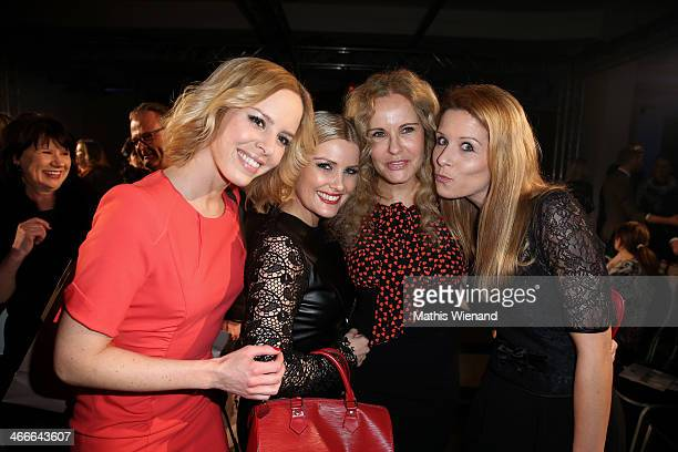 Isabell Edvardsson Jennifer Knaeble Katja Bukard and Miriam Lange attend the Thomas Rath fashion show during Platform Fashion Dusseldorf on February...