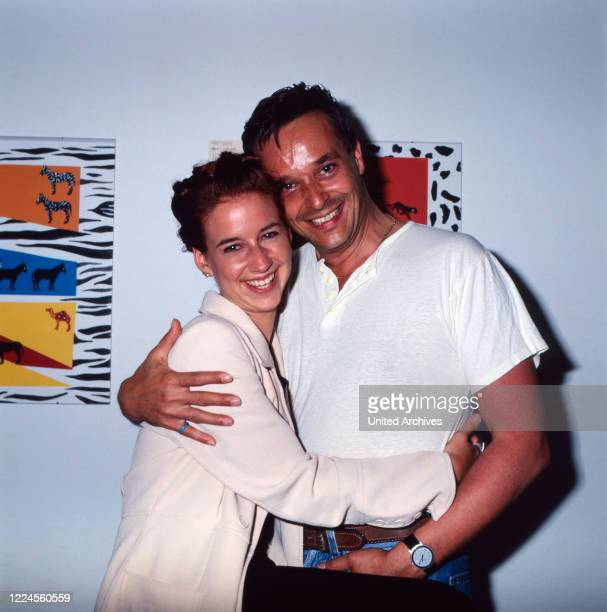 Isabell Hertel and Holger Franke, both actors of the German TV series 'Unter uns', Germany, circa 1995.