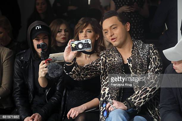Isabell Horn and Julian FM Stoeckel attend the Rebekka Ruetz show during the MercedesBenz Fashion Week Berlin A/W 2017 at Kaufhaus Jandorf on January...