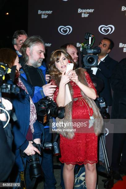 Isabell Horn attends the comeback party of the ice cream 'Brauner Baer' at Gare du Neuss on February 21 2017 in Neuss Germany