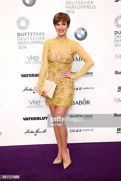 Isabell Horn wearing a dress by the Designer Bibi Bachtadze attends the Duftstars 2016 at Kraftwerk Mitte on May 12 2016 in Berlin Germany