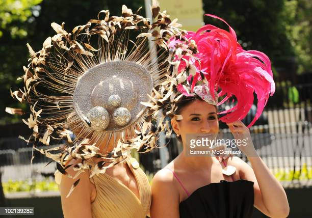 Isabell Kristensen and Valentina Kristensen attends Royal Ascot at Ascot Racecourse on June 16, 2010 in Ascot, England.