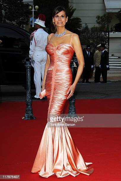 Isabell Kristensen attends the official dinner and firework celebrations at the Opera Terraces after the religious ceremony for the Royal Wedding of...