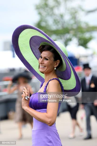 Isabell Kristensen attends the second day at Ascot Racecourse Berkshire