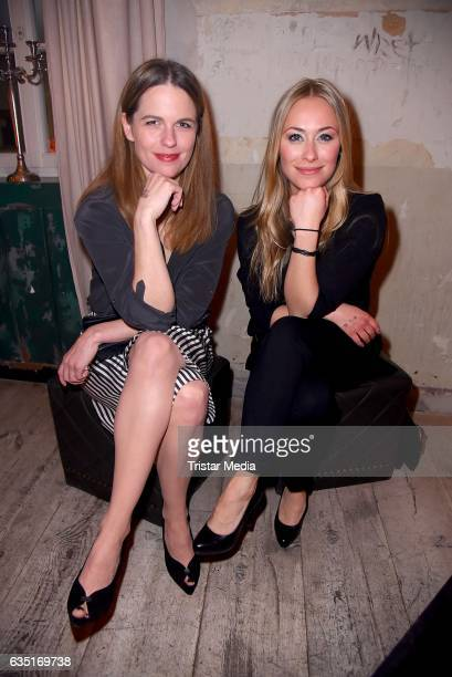 Isabell Polak and Sina Tkotsch attend the Pantaflix Party At The 67th Berlinale International Film Festival on February 13, 2017 in Berlin, Germany.