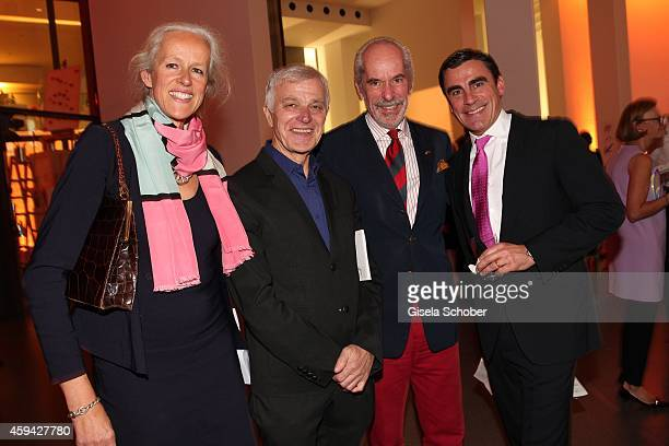 Isabell Reygers Otto Bantele Hubertus Reygers Andreas Rumbler during the PIN Party 'Lets Party 4 Art' at Neue Pinakothek on November 22 2014 in...