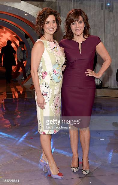Isabell Varell and Birgit Schrowange attend the TVShow 'Das Herbstfest der Traeume' at Messe Erfurt on October 12 2013 in Erfurt Germany