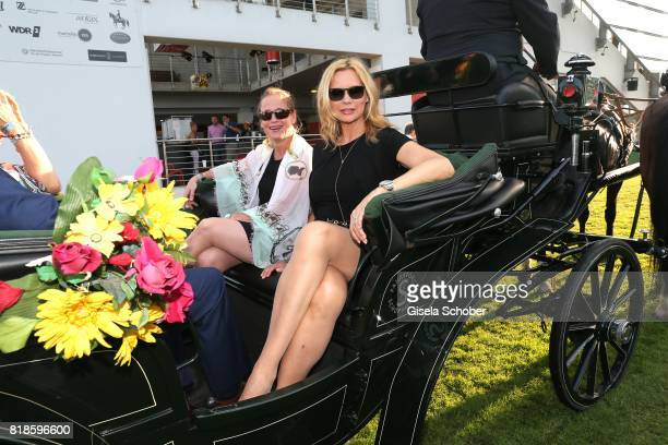 Isabell Werth and Veronica Ferres in a carriage during the media night of the CHIO 2017 on July 18 2017 in Aachen Germany