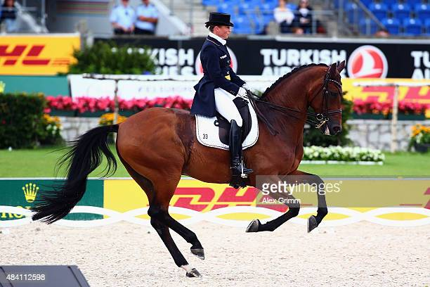 Isabell Werth of Germany performs on her horse Don Johnson FRH during the Dressage Grand Prix Special Individual Final on Day 4 of the FEI European...