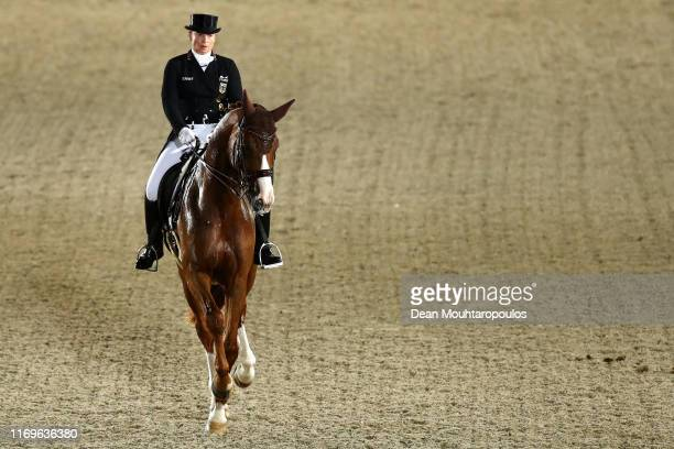 Isabell Werth of Germany riding Bella Rose competes during Day 4 of the Longines Grand Prix Special FEI Dressage European Championship presented by...