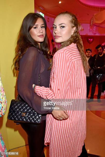Isabella Ahrens and Cheyenne Ochsenknecht attend the Natascha Ochsenknecht collection launch Natascha Loves Neon in cooperation with Zwillingsherz at...