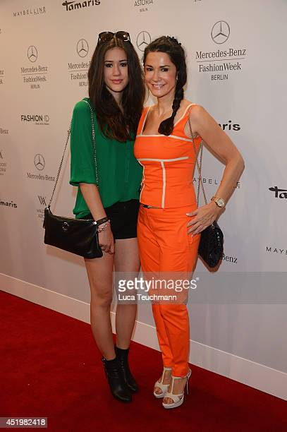 Isabella Ahrens and Mariella Ahrens attend the Laurel show during the MercedesBenz Fashion Week Spring/Summer 2015 at Erika Hess Eisstadion on July...