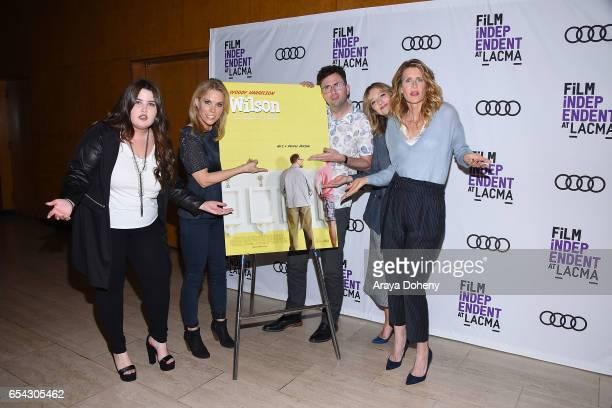 Isabella Amara Cheryl Hines Craig Johnson Judy Greer and Laura Dern attend the Film Independent at LACMA Screening and QA of 'Wilson' at Bing Theatre...