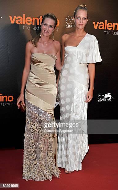 Isabella and Matilde Borromeo attend the premiere of the movie Valentino The Last Emperor held at Teatro La Fenice during the 65th Venice Film...