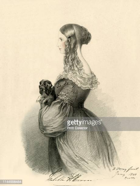 Isabella Anson' 1840 'The Honourable Mrs Anson died 1858 from taking poison by mistake' Portrait of Isabella Elizabeth Annabella Anson wife of George...