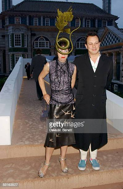 Isabella Blow and Dietmar Blow attend the annual Krug Rose Celebration VIP Party hosted by thrown by Olivier and Remi Krug, at Debenham House on June...