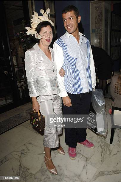 Isabella Blow and guest during Temperley London for Penhaligon's Launch Party - Inside at The Berkeley in London, Great Britain.