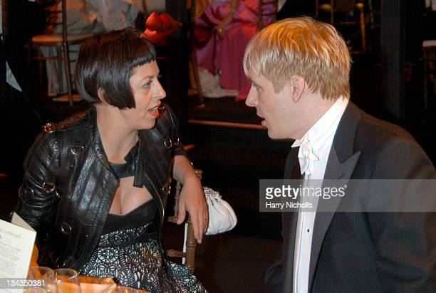 Isabella Blow and guest during The 6th Annual White Tie & Tiara Ball to Benefit the Elton John Aids Foundation in Association with Chopard - Show And...